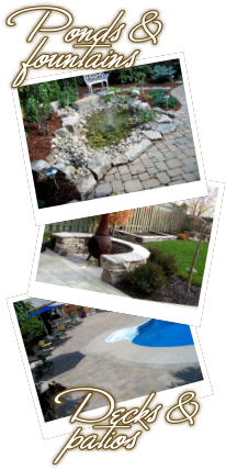 Acer Landscapes - Ponds, fountains, and decks, and patios